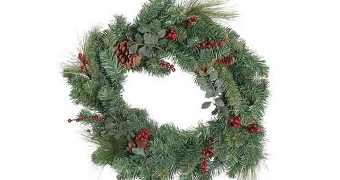 vánoční věnec - Venkovní vánoční dekorace. Jaká může být ve vaší zahradě