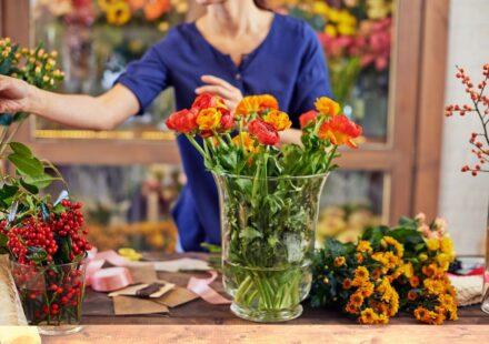 vaza s kvetinama